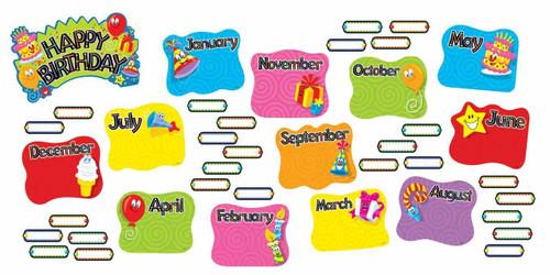 Trend Enterprises Inc Birthday Festival Bulletin Board School Classroom Display Set