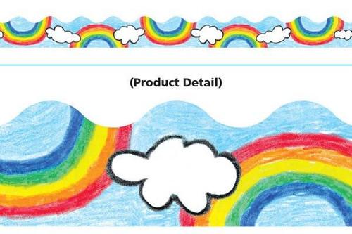 Trend Enterprises Inc Classroom Trimmers Notice Board Display Borders - Rainbow