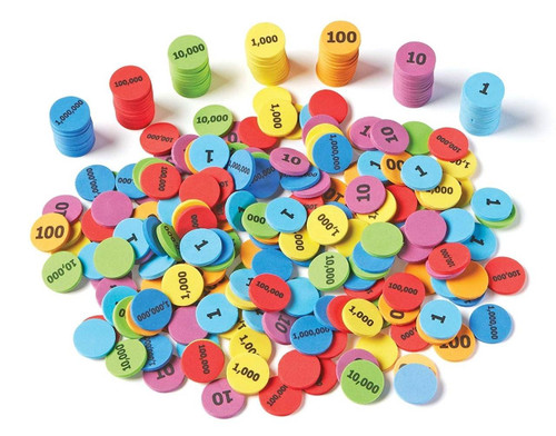 Learning Resources Learning Resources Place Value Disks Set of 280