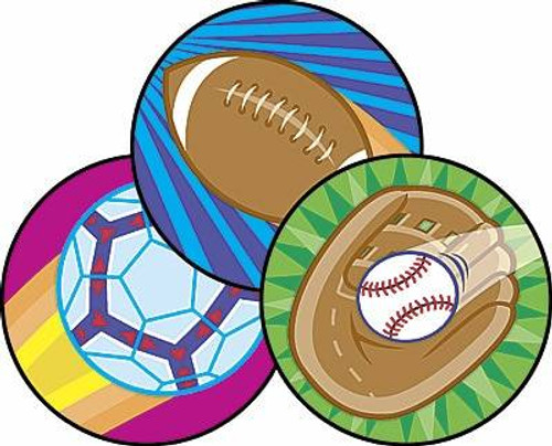 Trend Enterprises Inc 60 TREND Spectacular Sports Leather Scratch n Sniff Reward Stickers