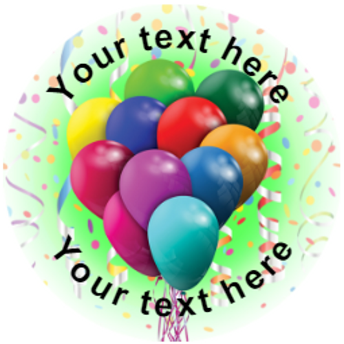 Sticker Stocker 144 Party Balloons Personalised 30 mm Reward Stickers for School Teachers, Parents and Nursery