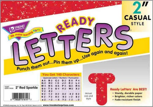 Trend Enterprises Inc Display Board Ready Letters - Sparkle Red 2 Casual