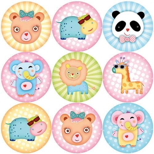 Sticker Stocker 144 Wild about Animals 30mm Reward Stickers for Teachers, Parents, Party Bags