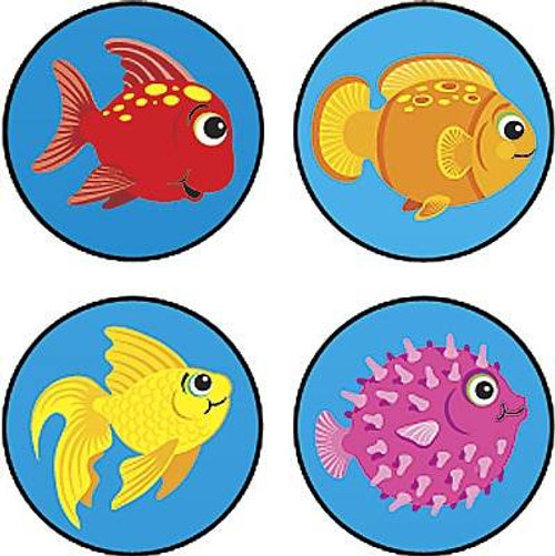 Trend Enterprises Inc 800 Fun Fish superSpots mini reward Stickers