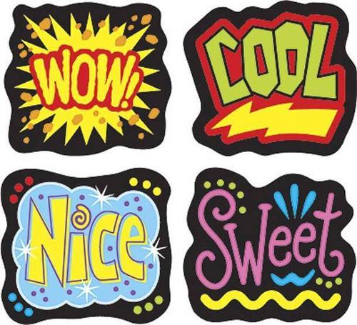 Trend Enterprises Inc 200 Cheerful Words superShapes Teacher Reward Stickers