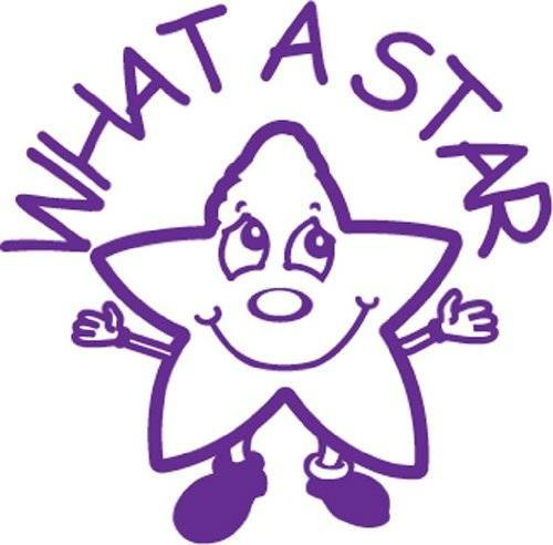 Trend Enterprises Inc What a Star - Self inking teacher reward xstamper xclamations stamp