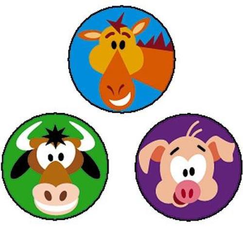 Trend Enterprises Inc 800 Farm Friends superSpots mini reward Stickers