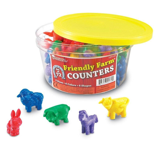 Learning Resources Learning Resources Friendly Farm Animal Counters Set of 72