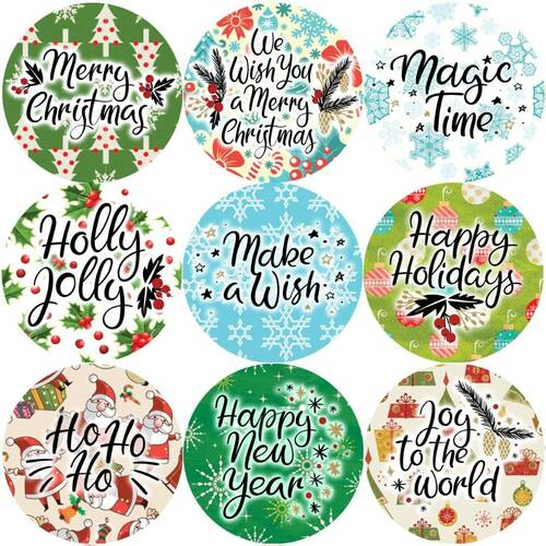 Sticker Stocker 144 Christmas Greetings 30mm Childrens Reward Stickers for Teachers or Parents