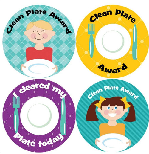Sticker Stocker 144 Clean Plate Awards 30mm Childrens Reward Stickers for Teachers or Parents