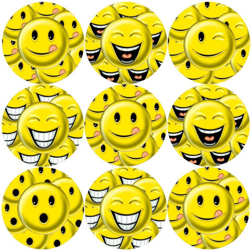 Sticker Stocker 144 Smileys 30mm Childrens Reward Yellow Smile Stickers for Teachers or Parents