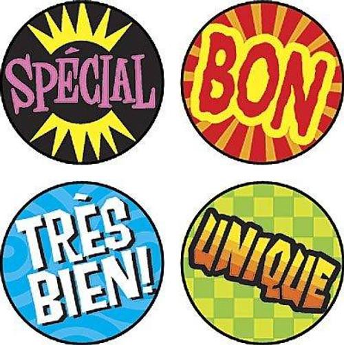 Trend Enterprises Inc 800 Les mots deloge superSpots French reward Stickers
