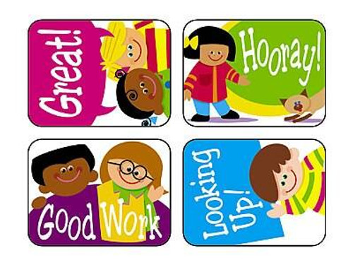 Trend Enterprises Inc TREND 100 Large Cartoon Kids Applause reward stickers