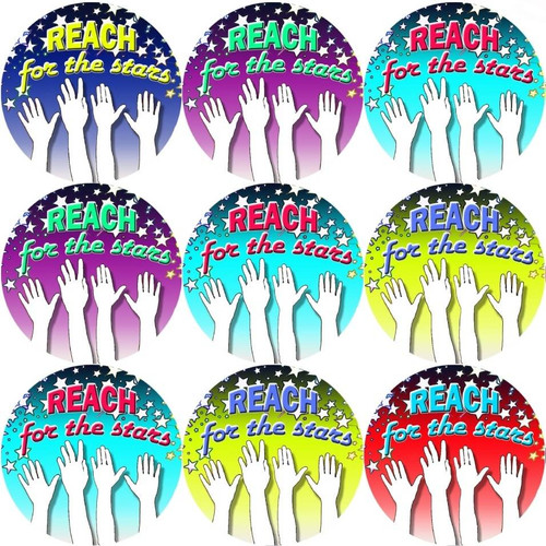 Sticker Stocker 144 Reach for the Stars 30mm Reward Stickers for Teachers or Parents