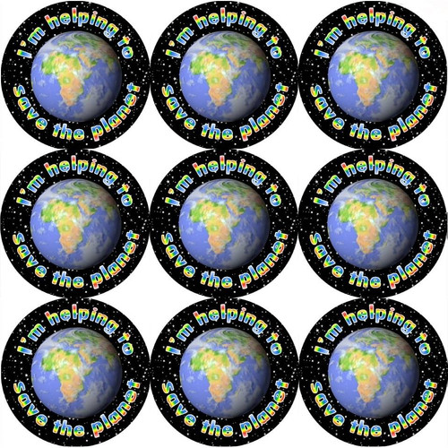 Sticker Stocker 144 Save the Planet 30mm Reward Stickers for School Teachers, Parents and Nursery