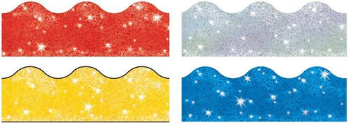 Trend Enterprises Inc Classroom Trimmers Borders Variety Pack - Sparkle Variety