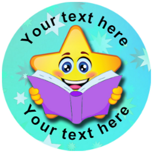 Sticker Stocker 144 Personalised Reading Star 30mm Reward Stickers for School Teachers, Parents and Nursery