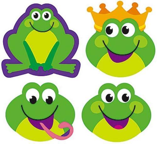 Trend Enterprises Inc 200 Frog Frenzy SuperShapes Teacher Reward Stickers - Large