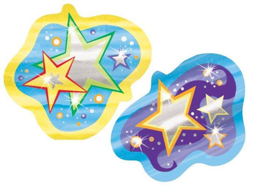 Trend Enterprises Inc TREND Glowing Stars Shiny Foil Bright Reward Stickers