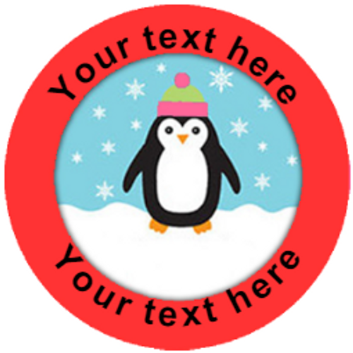 Sticker Stocker 144 Personalised Penguins 30 mm Reward Stickers for School Teachers, Parents and Nursery