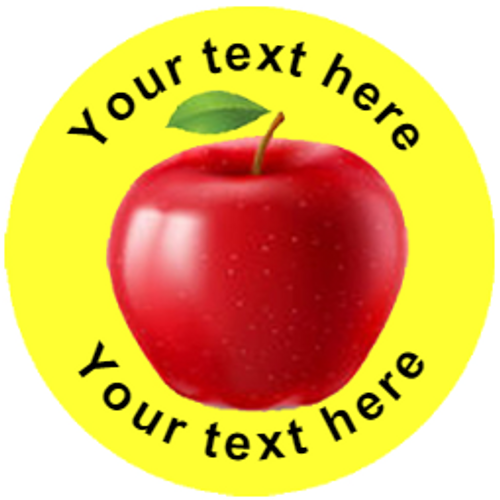 Sticker Stocker 144 Apples Personalised 30 mm Reward Stickers for School Teachers, Parents and Nursery