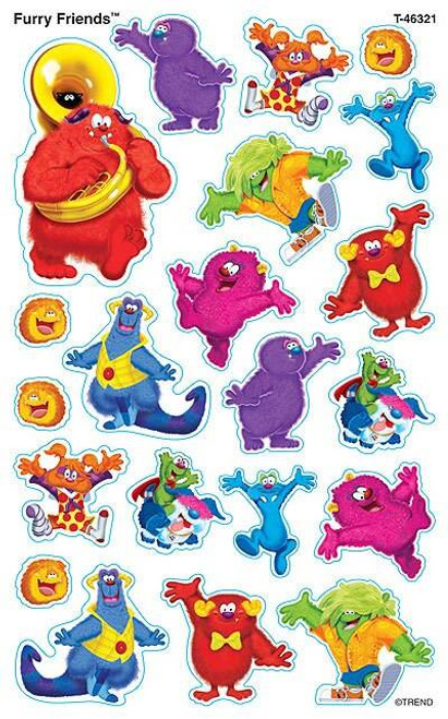 Trend Enterprises Inc 168 Furry Friends SuperShapes Teacher Reward Stickers - Large