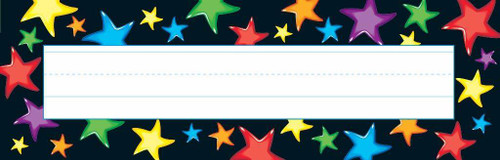 Trend Enterprises Inc 36 Gel Stars - School Classroom Name Plate Desk Toppers