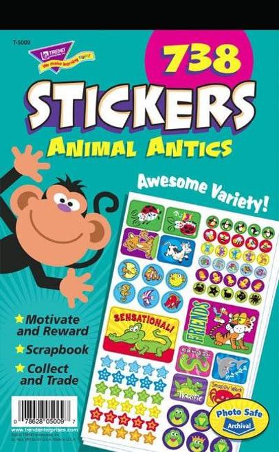Trend Enterprises Inc 738 Animal Antics Fun Teacher Reward Sticker Pad