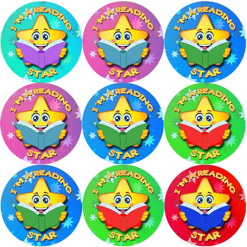 Sticker Stocker 144 Im a Reading Star 30 mm Reward Stickers for School Teachers, Parents and Nursery
