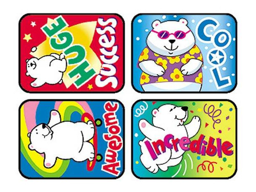 Trend Enterprises Inc 100 Large Polar Power Applause reward stickers