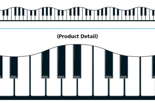 Trend Enterprises Inc Classroom Trimmers Notice Board Display Borders - Musical Keyboard