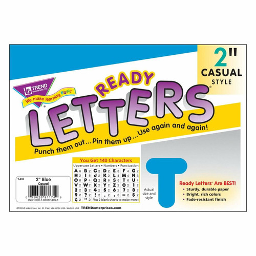Trend Enterprises Inc Trend Display Ready Letters - Blue 2 Casual