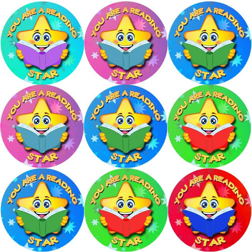 Sticker Stocker 144 You are a Reading Star 30 mm Reward Stickers for School Teachers, Parents and Nursery