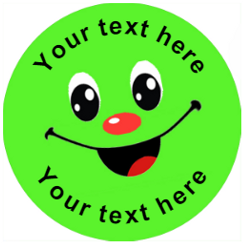 Sticker Stocker 144 Personalised Colourful Smiles 30mm Reward Stickers for School Teachers, Parents and Nursery