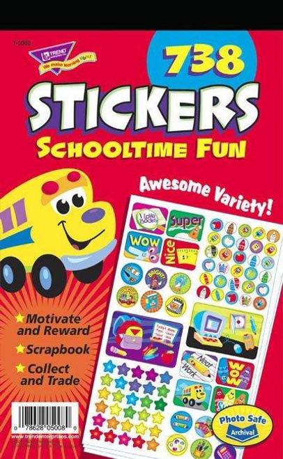 Trend Enterprises Inc 738 School Time Fun Teacher Reward Sticker Pad