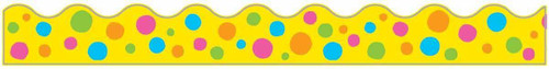 Trend Enterprises Inc Classroom Trimmers Notice Board Display Borders - Spotted Yellow
