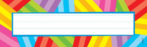 Trend Enterprises Inc 36 Kaleidoscope - School Classroom Name Plate Desk Toppers