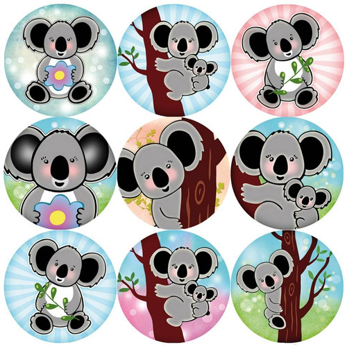 Sticker Stocker 144 Koala Bears 30mm Reward Stickers for Teachers, Parents and Party Bags