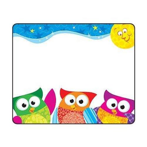 Trend Enterprises Inc 36 TREND Owl Stars Owl Name Tag Badge Stickers