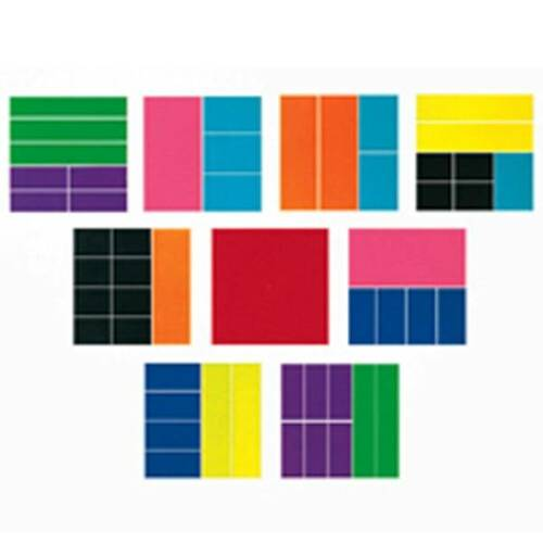 Learning Resources Learning Resources - 51 Piece Rainbow Fractions Square Set