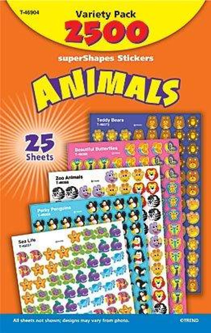 Trend Enterprises Inc 2500 TREND Animals superShapes reward Stickers