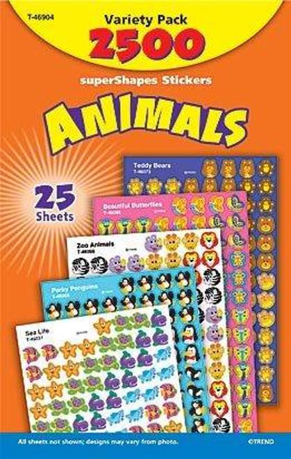 Trend Enterprises Inc 2500 TREND Animals superShapes reward Stickers