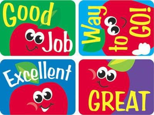 Trend Enterprises Inc TREND 100 Large Apples Applause reward stickers