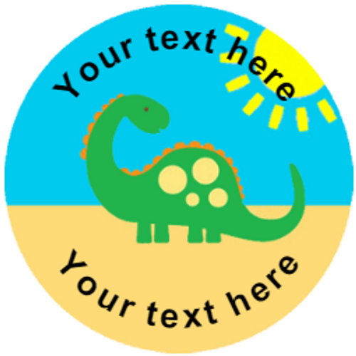 Sticker Stocker 144 Colourful Dinosaurs Personalised 30 mm Reward Stickers for School Teachers, Parents and Nursery