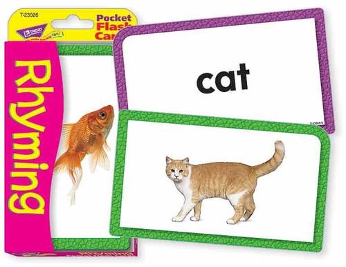 Trend Enterprises Inc Trend RHYMING Educational Pocket Flash Cards
