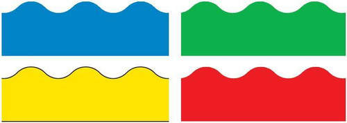 Trend Enterprises Inc Classroom Trimmers Borders Variety Pack - Blue Green Yellow Red