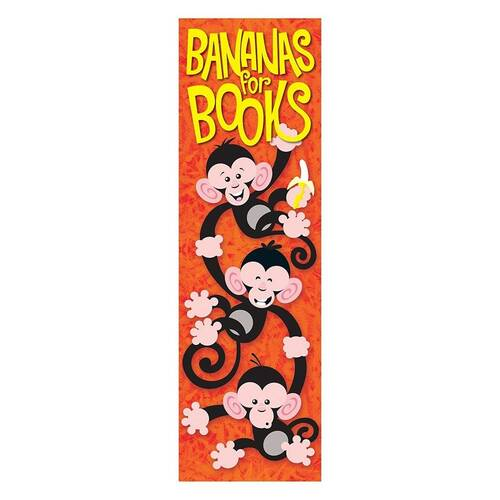 Trend Enterprises Inc 36 Kids Bananas for Books Monkey Mischief reward bookmarks