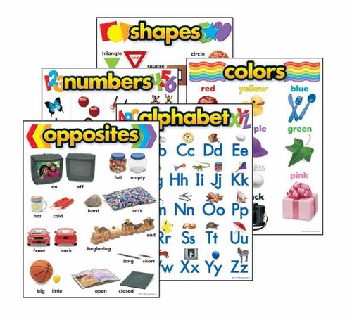 Trend Enterprises Inc Basic Skills Combo -5 Durable Reusable School Classroom posters