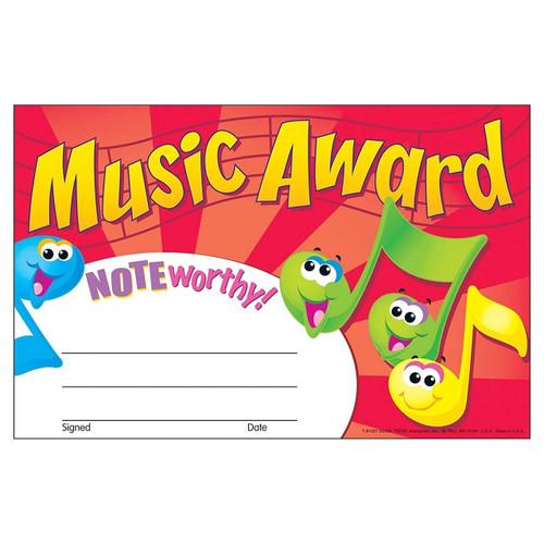 Trend Enterprises Inc 30 Music Awards certificates School teacher recognition awards