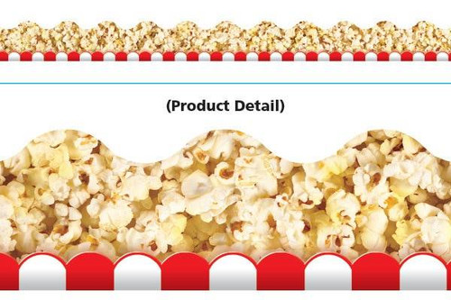 Trend Enterprises Inc Classroom Trimmers Notice Board Display Borders - Popcorn
